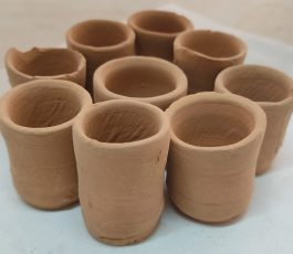 Indian mini Clay glasses